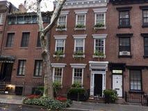 Luxeflatgebouwen, in New York Manhattan stock foto