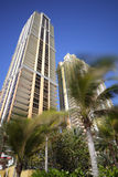 Luxegebouwen op een blauwe hemel Stock Fotografie