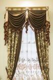 Luxegordijn Royalty-vrije Stock Afbeeldingen