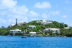 Luxehuizen op het Eiland van de Bermudas stock afbeeldingen