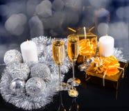 Luxekerstmis en Nieuwjaarachtergrond Stock Foto's