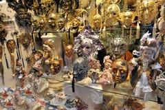 Luxekostuums en maskers in Venetië, Italië 2015 Royalty-vrije Stock Foto