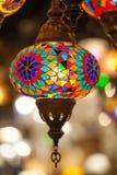 Luxelamp met kleurrijk Stock Fotografie