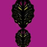 Luxemandala Arabisch op purple Royalty-vrije Stock Foto's
