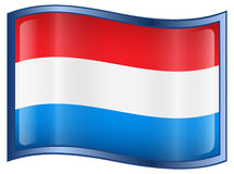 Luxemborg Flag Icon Royalty Free Stock Photo