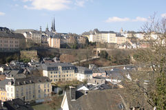 Luxembourg. City buildings skyline, panorama Stock Images