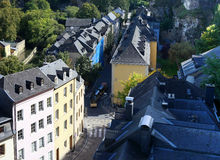 Luxembourg. City view of old town Luxembourg Stock Photo