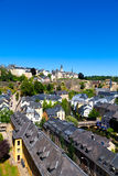 Luxembourg. Panorama on a sunny summer day Stock Photos