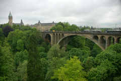 Luxembourg. Partial view of the city centre stock photo