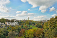 Luxembourg. Panorama of city Luxembourg in autumn Stock Photo