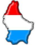 Luxembourg abotoa a forma do mapa da bandeira Fotos de Stock