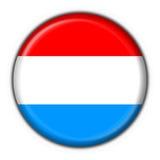 Luxembourg abotoa a forma redonda da bandeira Imagem de Stock