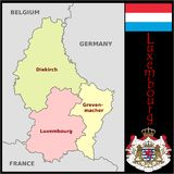 Luxembourg Administrative divisions Stock Photos