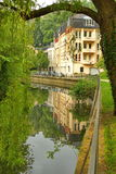 Luxembourg - Alzette river on a sunny day Royalty Free Stock Images