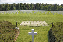 Luxembourg American War Cemetery , Gen. Patton Royalty Free Stock Images