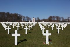 Luxembourg American cemetery and memorial Royalty Free Stock Images