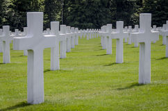 Luxembourg American Cemetery War Memorial Royalty Free Stock Photos