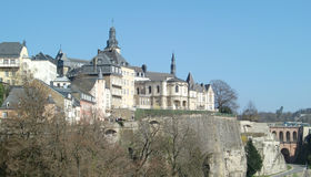 Luxembourg architecture Royalty Free Stock Photography