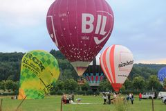 2018 Luxembourg Balloon Trophy stock photos