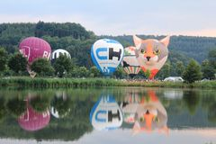 2018 Luxembourg Balloon Trophy stock images