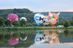 2018 Luxembourg Balloon Trophy royalty free stock photo