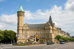 Luxembourg bank Royaltyfria Foton