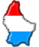 Luxembourg button flag map shape Stock Photos
