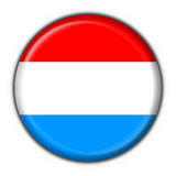 Luxembourg button flag round shape Stock Image
