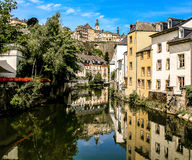 Luxembourg on the canal Royalty Free Stock Photo