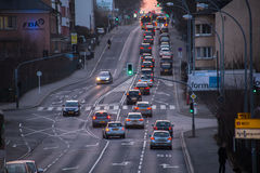 Luxembourg, cars in traffic Stock Images