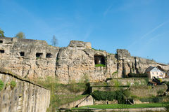 Luxembourg casemates Stock Image