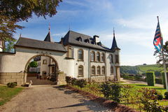 Luxembourg castle converted in cozy hotel Royalty Free Stock Images