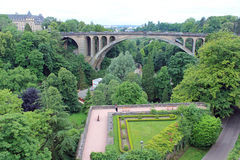 Luxembourg, central view. Panorama of Luxembourg bridges, europe Stock Image