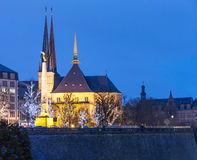 Luxembourg church. Of St. Mary before the sunrise Stock Photography