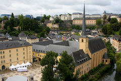 Luxembourg city. View on old Luxembourg city Royalty Free Stock Photos