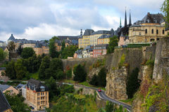 Luxembourg City. View from the Casemates on old Luxembourg City Royalty Free Stock Images