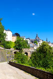 Luxembourg City. Fortifications in the old part of Luxembourg city Royalty Free Stock Image