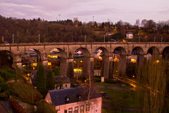 Luxembourg City. View from the Casemates on old Luxembourg City Royalty Free Stock Photos