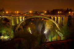 Luxembourg City. Pont adolphe bridge luxembourg europe Stock Photos