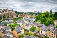 Luxembourg City Architecture. View of the old town area in Luxembourg City - a popular tourist destination in Europe Stock Photography