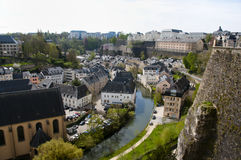 Luxembourg City. Buildings in the Capital Stock Images