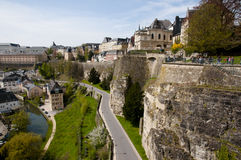Luxembourg City. Buildings in the Capital Royalty Free Stock Image