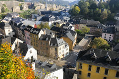 Luxembourg city  center. Early morning in the Luxembourg city  center Royalty Free Stock Images