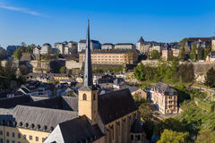 Luxembourg city cityscape Royalty Free Stock Images