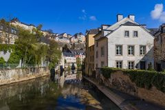 Luxembourg city cityscape royalty free stock photos