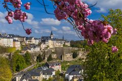 Luxembourg city cityscape. Architecture background Royalty Free Stock Photo