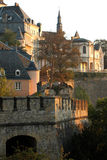 Luxembourg city early in the morning Royalty Free Stock Images
