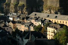 Luxembourg city early in the morning Stock Photography