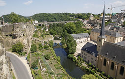 Luxembourg City. Royalty Free Stock Photography