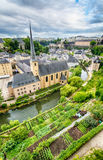 Luxembourg City Landscape and Architecture Stock Photo